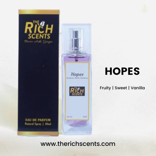 Hopes Eau De Parfum 40ml Spray by The Rich Scents for Women 1