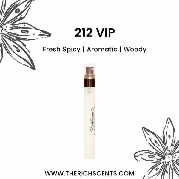 212 VIP Inspired Perfume 10ml Spray For Men 1
