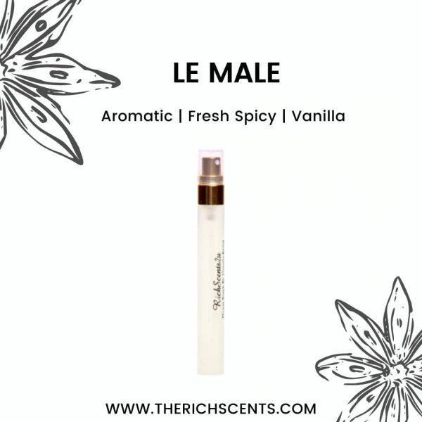 Le Male Travel Perfume 10 ml EDP Spray For Men 1