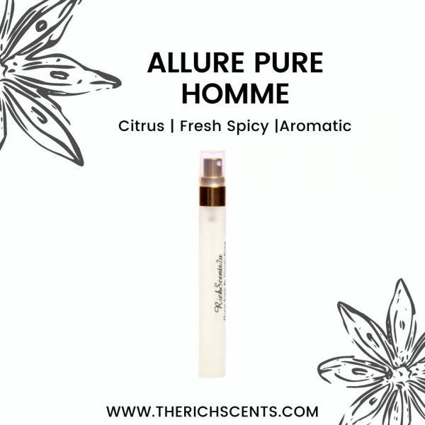Allure Pure Homme Perfume 10ml EDP Spray for Men 1