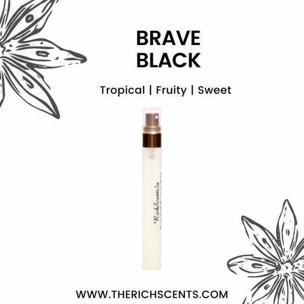 Brave Black Eau De Parfum 10ml Spray For Men 1